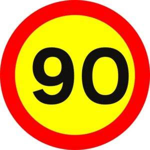 Speed limits Iceland