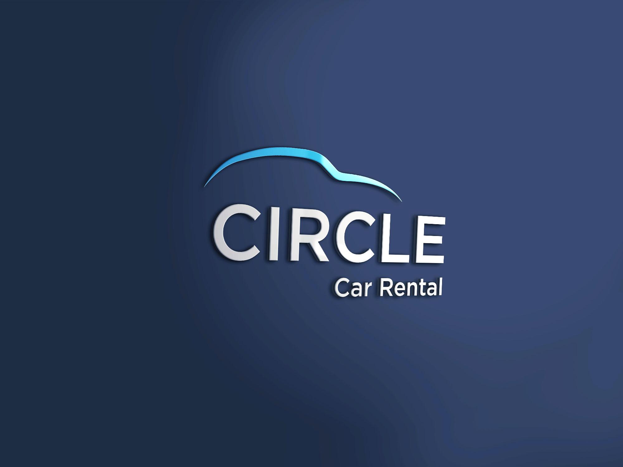 Circle Car Rental 3d Mockup1