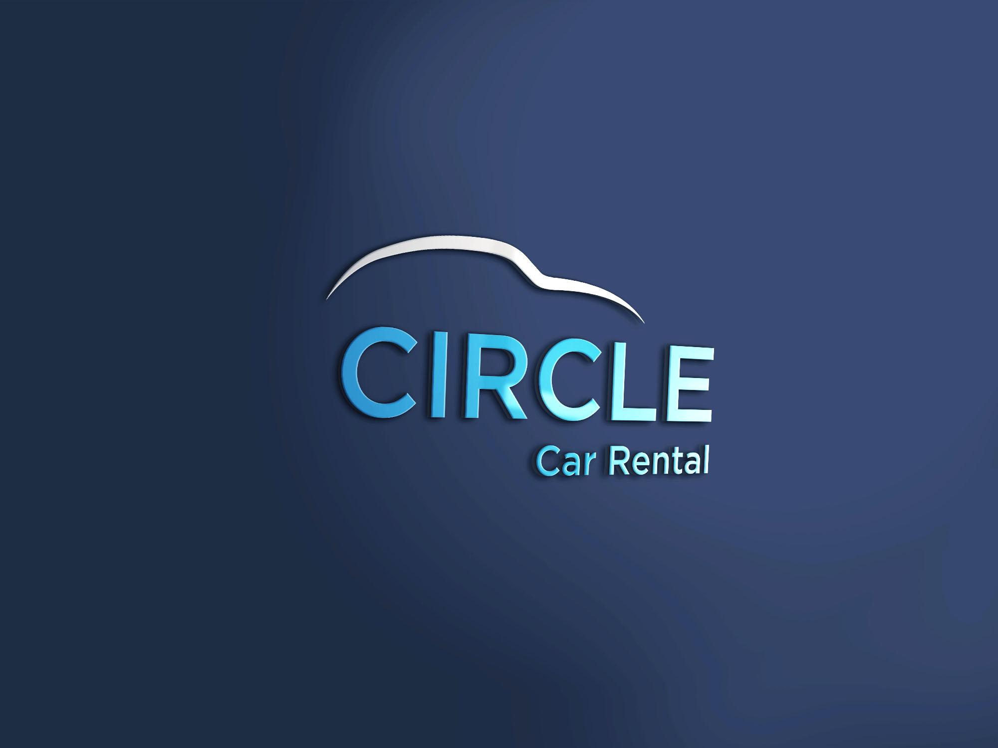 Circle Car Rental 3d Mockup2