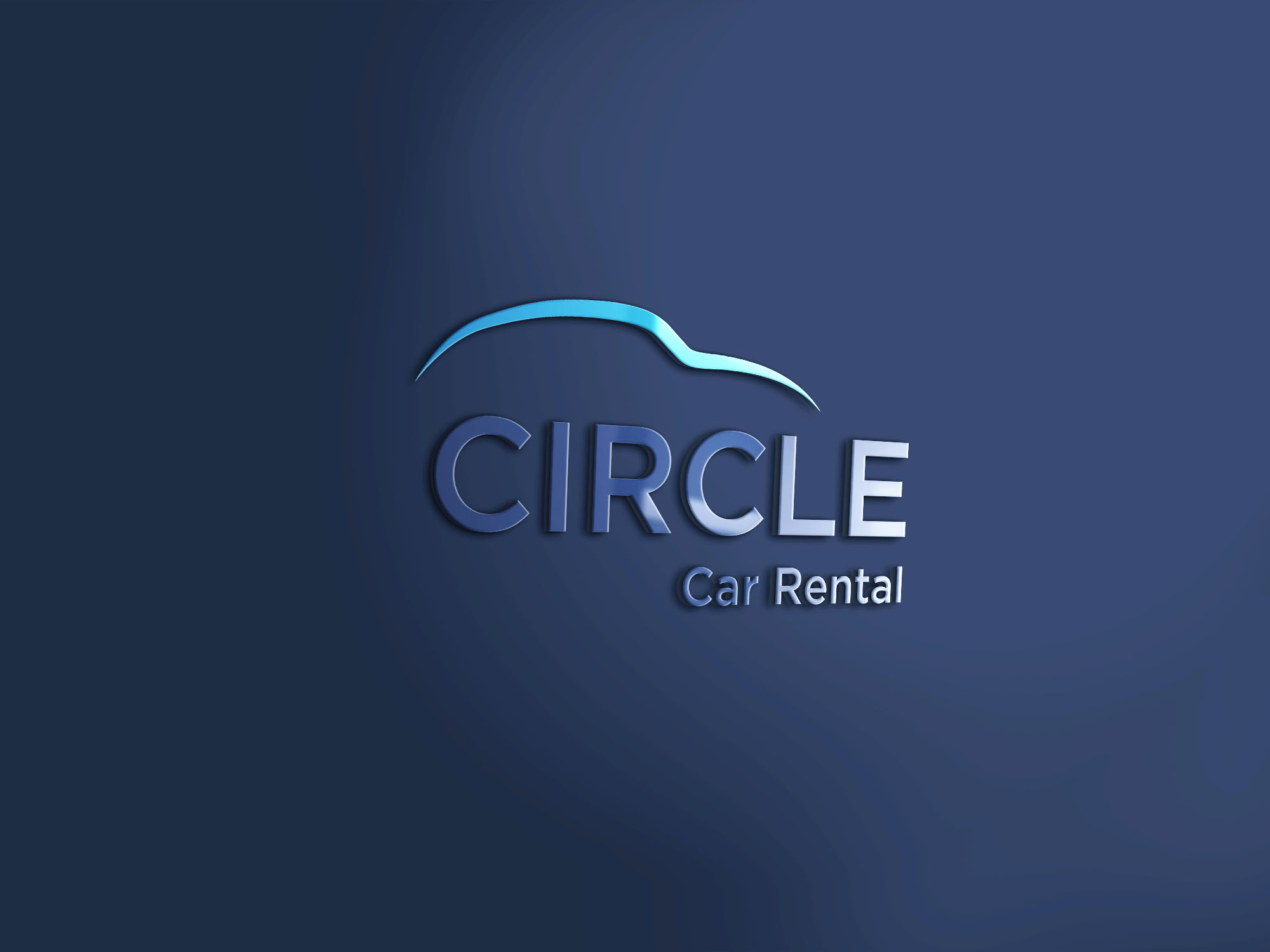 Circle Car Rental 3d Mockup3 1