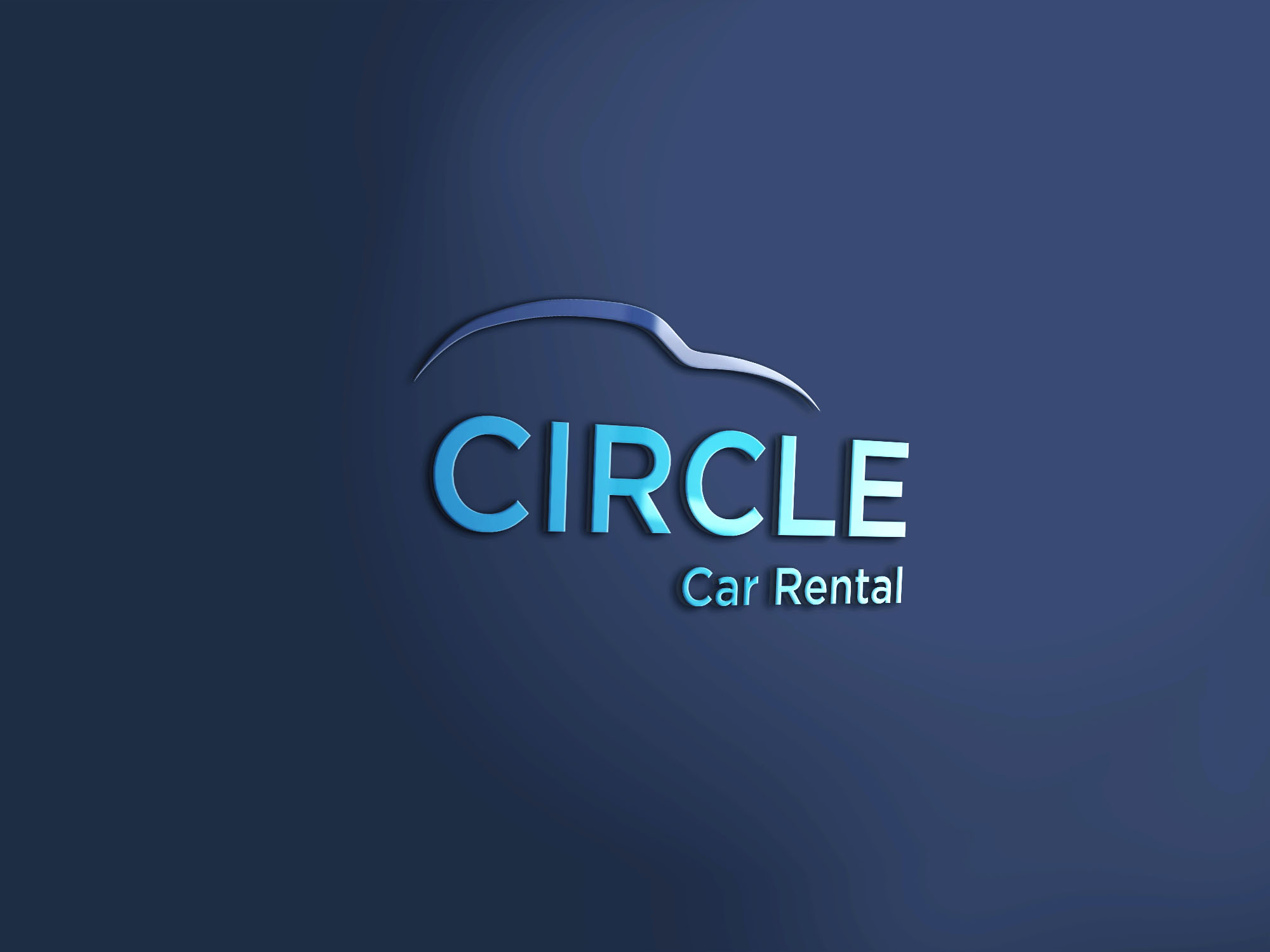 Circle Car Rental 3d Mockup4