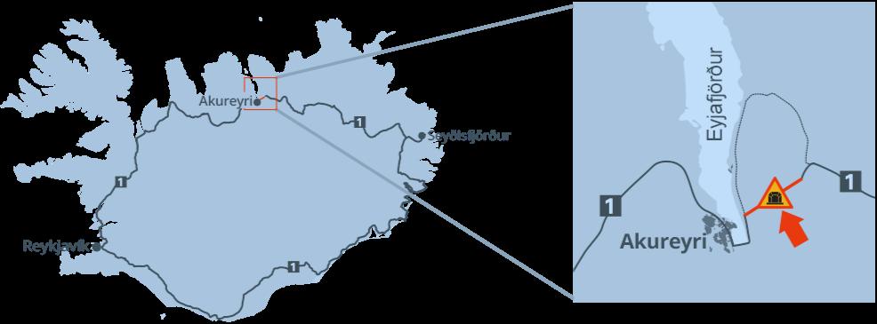 location of Vadlaheidi tunnel