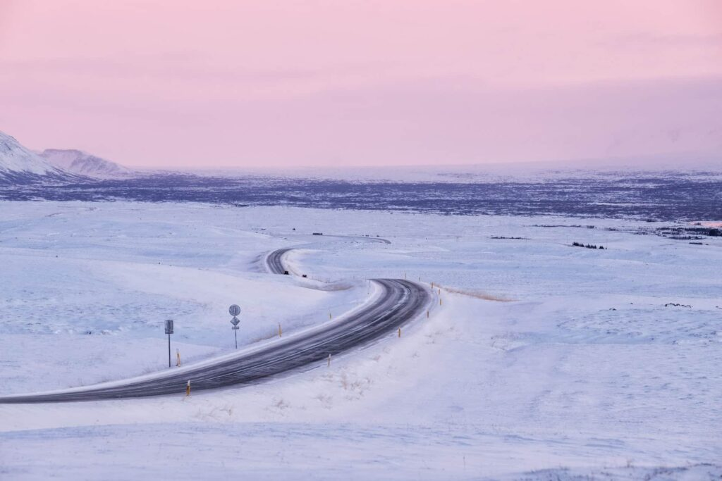 winter conditions in Iceland